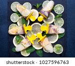 healthy homemade lime and... | Shutterstock . vector #1027596763
