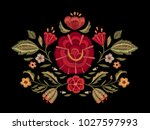 embroidered flowers. floral... | Shutterstock .eps vector #1027597993