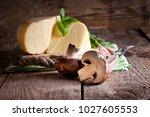 cheese  mushrooms and aromatic... | Shutterstock . vector #1027605553
