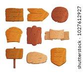 cartoon wooden planks wooden... | Shutterstock .eps vector #1027612927