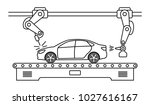 thin line style car assembly... | Shutterstock .eps vector #1027616167