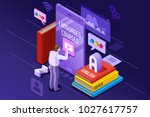 learning from textbook this is... | Shutterstock . vector #1027617757