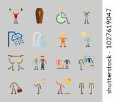icons about human with kid ... | Shutterstock .eps vector #1027619047