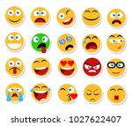 large set of vector smiles ... | Shutterstock .eps vector #1027622407