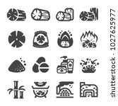 charcoal icon set | Shutterstock .eps vector #1027625977