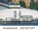 industrial steel air... | Shutterstock . vector #1027627297
