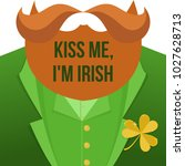kiss me im irish.saint patrick... | Shutterstock .eps vector #1027628713