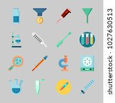 icons about laboratory with gas ... | Shutterstock .eps vector #1027630513