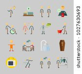 icons about human with... | Shutterstock .eps vector #1027630693