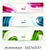Set Of Four  Banners  Abstract...