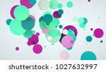 3d abstract circle colors... | Shutterstock . vector #1027632997