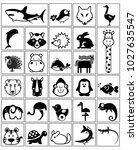 animals  fauna icons | Shutterstock .eps vector #1027635547