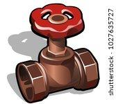 industrial copper or brass... | Shutterstock .eps vector #1027635727
