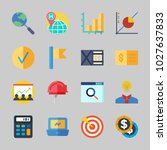icons about business with... | Shutterstock .eps vector #1027637833