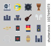 icons about music with... | Shutterstock .eps vector #1027644373