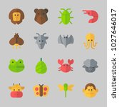 icons about animals with monkey ... | Shutterstock .eps vector #1027646017