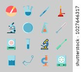 icons about laboratory with... | Shutterstock .eps vector #1027646317