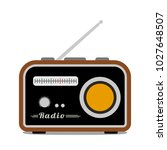 retro radio icon isolated on... | Shutterstock .eps vector #1027648507