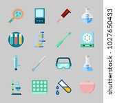 icons about laboratory with... | Shutterstock .eps vector #1027650433
