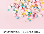 easter candy chocolate eggs and ... | Shutterstock . vector #1027654867