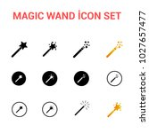 magic wand vector icon set | Shutterstock .eps vector #1027657477