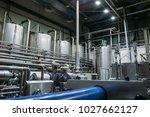 stainless steel brewing... | Shutterstock . vector #1027662127