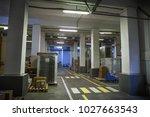 industrial storage hall or... | Shutterstock . vector #1027663543