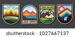 vector travel and adventure... | Shutterstock .eps vector #1027667137