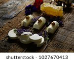 a sweet snack from cheeses.... | Shutterstock . vector #1027670413