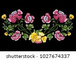 embroidery traditional pattern... | Shutterstock .eps vector #1027674337
