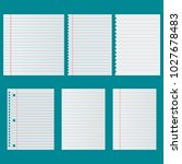 notebook paper set | Shutterstock .eps vector #1027678483
