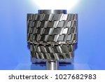 modern industrial cutter on a... | Shutterstock . vector #1027682983