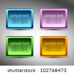 square sticker | Shutterstock .eps vector #102768473