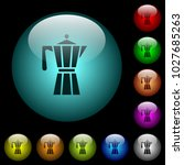 coffee maker icons in color...