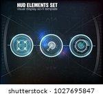 hud ui. abstract virtual... | Shutterstock .eps vector #1027695847