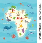 africa map. vector illustration. | Shutterstock .eps vector #1027697833