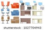 a set of office furniture.... | Shutterstock .eps vector #1027704943