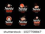 sushi  sashimi  japanese... | Shutterstock .eps vector #1027708867
