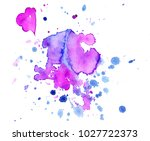 colorful abstract watercolor... | Shutterstock .eps vector #1027722373
