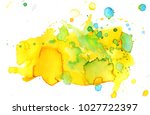 colorful abstract watercolor... | Shutterstock .eps vector #1027722397