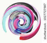3d rendering  abstract twisted... | Shutterstock . vector #1027727587