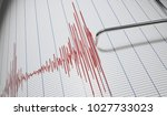 lie detector or seismograph for ... | Shutterstock . vector #1027733023