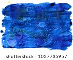 colorful abstract watercolor... | Shutterstock .eps vector #1027735957