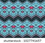 ikat geometric folklore... | Shutterstock .eps vector #1027741657