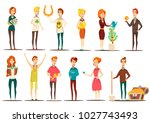 lucky situations flat set of... | Shutterstock . vector #1027743493