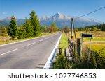 view of high tatras mountains...   Shutterstock . vector #1027746853