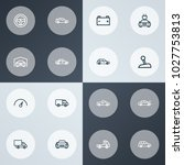 automobile icons line style set ... | Shutterstock .eps vector #1027753813