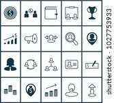 management icons set with call  ... | Shutterstock . vector #1027753933