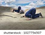 businessman hiding his head in...   Shutterstock . vector #1027756507