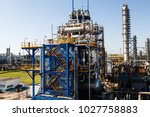 a large oil and gas refinery in ... | Shutterstock . vector #1027758883